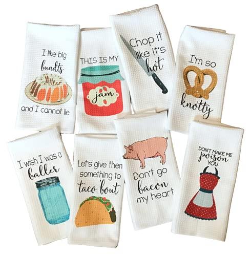 10. Funny Kitchen Tea Towel Housewarming Gift