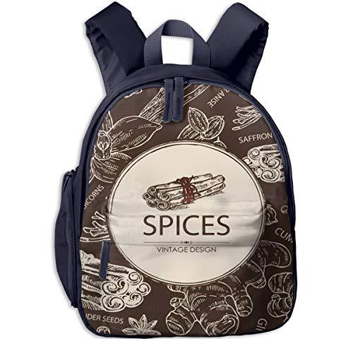 Kinderrucksack Kleinkind Jungen Mädchen Kindergartentasche Gewürz Ingwer Zimt Kreuzkümmel Samen Backpack Schultasche Rucksack