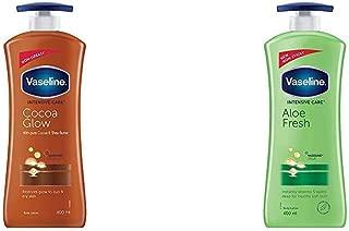 Vaseline Intensive Care Cocoa Glow Body Lotion, 400 ml & Vaseline Intensive Care Aloe Fresh Body Lotion, 400 ml