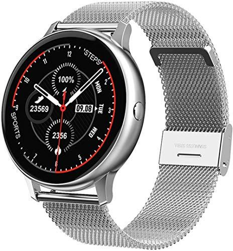 Reloj inteligente de pulsera para hombre y mujer, con función de presión arterial, frecuencia cardíaca, monitorización del sueño, pulsera deportiva (color: C)-D