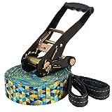 ALPIDEX Slackline Set 15 m + Baumschutz und Ratschenschutz, geeignet für Kinder, Anfänger und Fortgeschrittene - 2