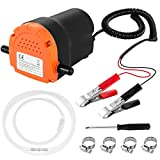 Oil Change Pump Extractor 12v 80W Engine Oil Extractor Pump Scavenge Suction Transfer Pump for Car, Boat, Marine, Motorbike, Truck, RV, ATV and Other Vehicles (Orange)