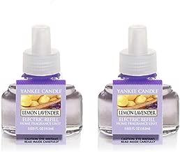 Yankee Candle Lemon Lavender 2-Pack Scent Plug Refills Set of 2 Bottles 0.625 oz Each