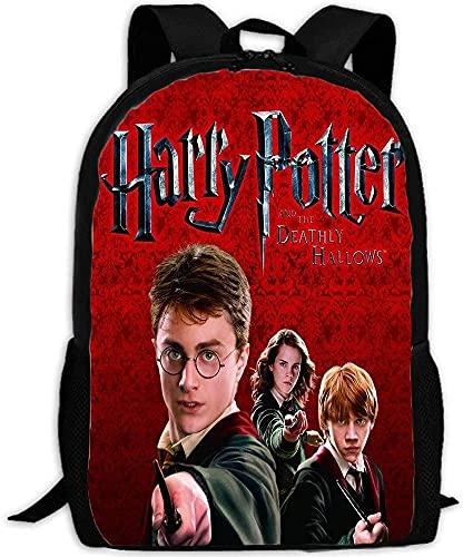 Harry Potter Children's School Bag, 3D Cartoon Anime Boys and Girls Backpack, Lightweight,...