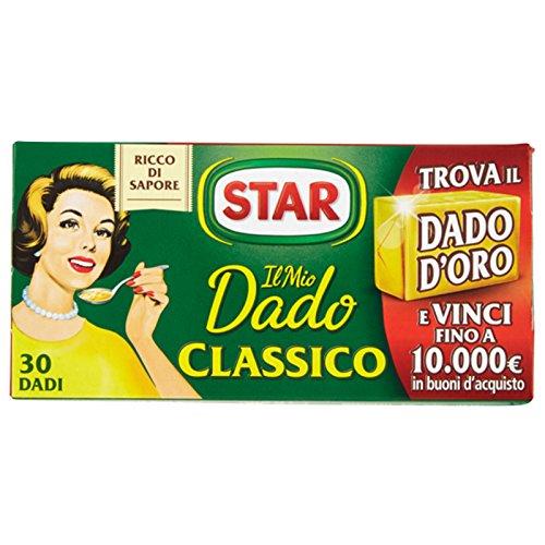 ASTUCCIO DA 30 DADI STAR IL DADO CLASSICO VERDURE PEZZI BRODO RISOTTO CUBI