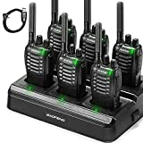 BAOFENG BF-88ST Six-Way Charger Bulk, Upgrade Version of BF-888S, FRS Radio Long Range Two Way Radio, License-Free USB Charging, with Earpiece, 6 Radio and 1 Multi Unit Charger Station
