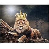 HSFFBHFBH Wandkunst Bilder Leinwand Gemälde Tier König