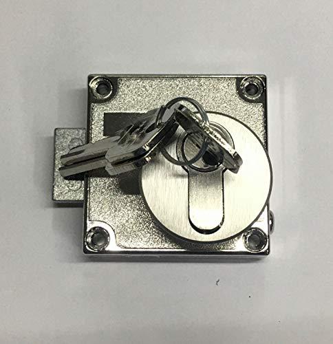 Aufschraubschloss, Kastenriegelschloss inklusive Profilzylinder bis Türstärke maximal 20 mm (PZ) und Rossette