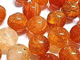 Natur Crackle Dragon - Perlas de ágata, con vetas, piedras preciosas, rojo y naranja, bolas de 6 /...