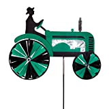 In the Breeze 2506 Green Tractor Ground Spinner-Garden Decoration, 24' Inch