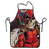 N\A Delantal Abstracto Deadpool Skull Marvel Comics Delantal Babero de Cocina...
