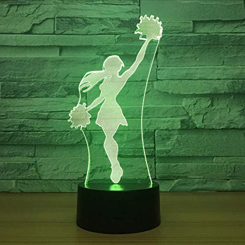 3D Mood Light Cheerleader Girls Lampe 3D Cool Night Light 7 Farben Visueller Schlaftisch Led Lampe Wohnkultur Zubehör Neuheit Ausrüstung Party Geschenke