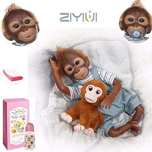 ZIYIUI 21 Pulgadas 52cm Reborn Dolls Body para bebé Niño Silicona Suave Vinilo Hecho a Mano Cuerpo Completo Juguetes magnéticos realistas Best Reborn Child Doll