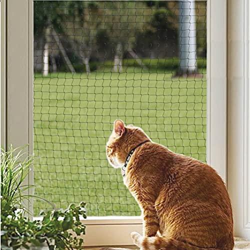 Katzennetz, Balkonnetz für Katzen, für Balkon und Fenster, Schwarz 8x3m