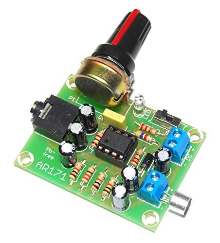 AR171M NE5532 Afluisterapparaat zonder kabel via hoofdtelefoon met elektrische microfoon met draaipotentiometer, geteste module microfoonversterker fluisters/luide dieren