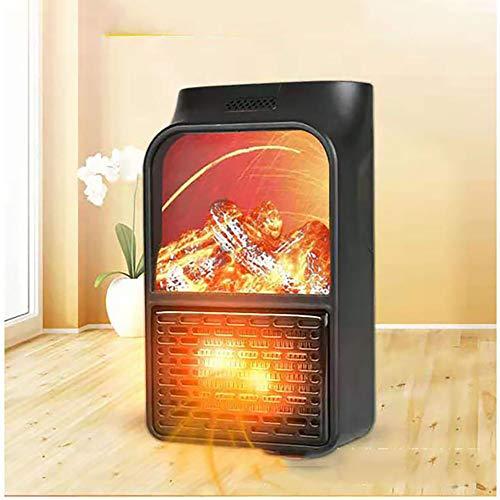 JW-NFJ Mini Electric con Presa a Parete Flame Heater Plug-in Aria più Calda PTC in Ceramica Riscaldamento Stufa radiatore Domestica Parete Handy Fan