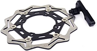 JFG RACING Black CNC Stainless Steel 270MM Front Floating Brake Disc Bracket For Kawasaki KX125 2006-2008 KX250F 2006-2015 KX450F KX250 KLX450R 2007-2015