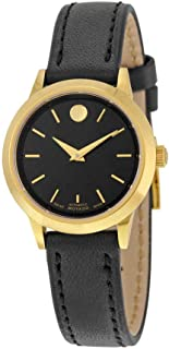 1881 Automatic Black Dial Gold PVD Ladies Watch 0606925