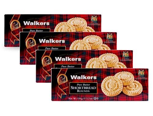 Walkers Biscotti Rotondi Scozzesi di Pasta Frolla al Burro - 4 x 150 Grammi