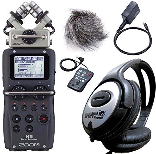 Zoom H5 Handy Recorder + APH-5 Zubehörset + keepdrum Kopfhörer