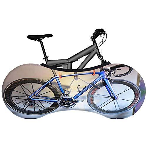 Cubierta protectora elástica para ruedas de bicicleta, para almacenamiento y transporte en interiores, mantiene suelos y paredes libres de suciedad