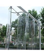 Transparant dekzeil waterdicht duidelijk Tarp Sheet Premium kwaliteit Tent Tear Resistant Regengordijn Dak Gazebos Cover 2.4x4M 0.3mm