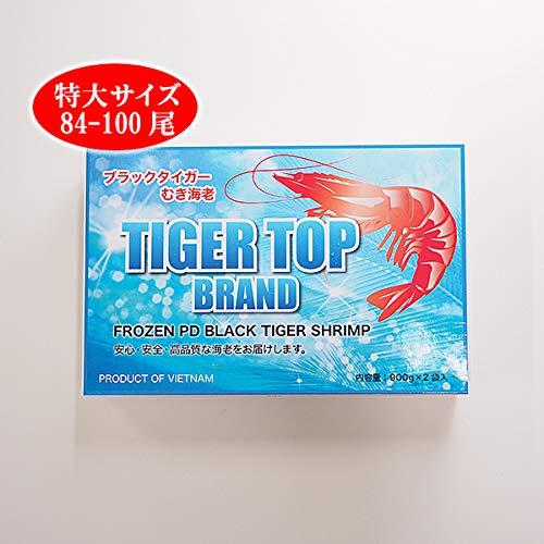 築地魚群 ブラックタイガーエビむき身(特大サイズ 84-100尾)1.8kg 冷凍便