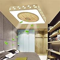 ファン天井ファン現代クリエイティブリモコンミュートLED調光可能な天井ライトリビングルーム天井ファン装飾照明