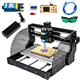 VEVOR CNC 3018 Pro Max 3 Axis CNC Machine 5500mW CNC 3018-PRO Router Kit GRBL Control with Offline Controller for Carving Milling Plastic, Acrylic, PVC, Wood (5500mW,300X180X45mm)