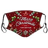 Staresen Bunt Weihnachtsmotiv Mundschutz Erwachsene Atmungsaktive Bandana Mit Elastischer Ohrbügel Waschbar Mund-Nasenschutz KäLtesichere Multifunktionstuch Damen Herren