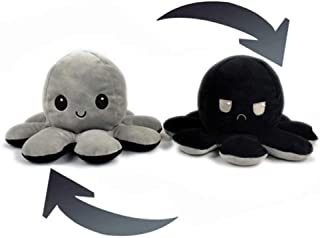 Cute Octopus Plush Toys, Double-Sided Flip Octopus Doll, Reversible Octopus Stuffed Animals Doll, Toy Gifts for Kids, Fami...