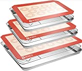Stainless Steel Baking Sheet Tray Cooling Rack with Silicone Baking Mat Set, Cookie Pan with Cooling Rack, Set of 9 (3 Sheets + 3 Racks + 3 Mats), Non Toxic, Heavy Duty & Easy Clean