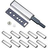 Amortiguadores Magnéticos,10 Piezas Presionar Abrir el Pestillo de Captura para Puerta Armario Cocina Sistema de Apertura de Puertas Amortiguador para Armario Puerta Cajón