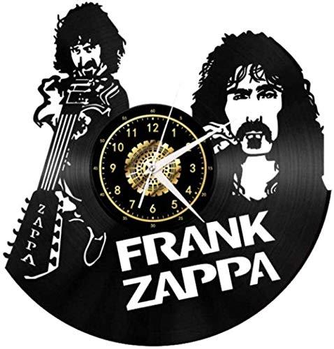 ZZLLL Reloj de Pared de Vinilo Reloj de Guitarra y de Hombre Reloj de Pared de Vinilo Sala de Estar Dormitorio Reloj de Pared decoración del hogar Tranquilo Disfrutar Mudo