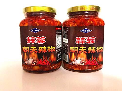 蒜蓉朝天辣椒 にんにく入り激辛調味料 380g×2点