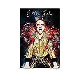 AAOO Elton John Leinwand Kunst Poster und Wandkunst