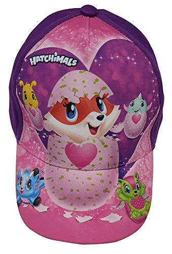 Gorra de niña Hatchimals con Figura de Diferentes Animales, Gorra de béisbol, kappy, Gorra con Visera para niños (52, púrpura)