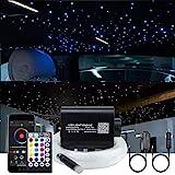 AKEPO 16W Fiber Optic Lights Star Ceiling Light Kit APP Control for Car & Home,Fibre...