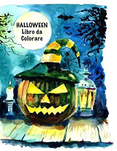 Halloween Libro da Сolorare: Carino Spooky spaventosi cose Disegni da colorare per la scuola materna, età 4-8, con: Pumpkins Tricks Magia
