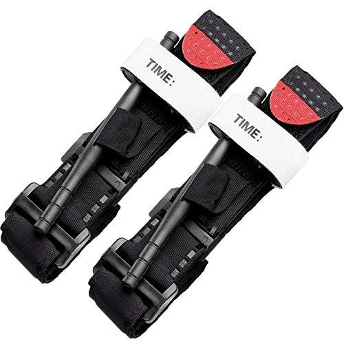 DQTYE Confezione da 2 Lacci emostatici Cinturino per Laccio emostatico tattico per Sport all'Aria Aperta Escursionismo Campeggio
