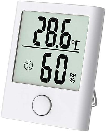 Mini Thermometre Interieur, Hygrometre Interieur Numérique de Haute Précision pour Détecter l'Humidité et la Températ...
