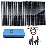 AUECOOR Kit solar de 1800 W, 18 piezas de panel solar...