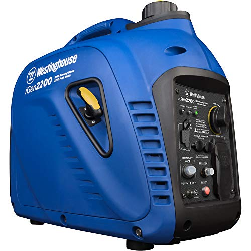 Westinghouse iGen2200 Super Quiet Portable Inverter Generator 1800 Rated & 2200 Peak Watts, Gas...