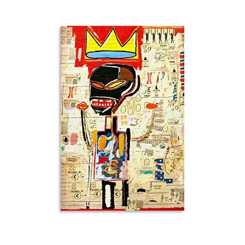 SHJKL Art Murals Peinture d'art africain Basquiat Art sur toile et décoration murale 30 x 45 cm