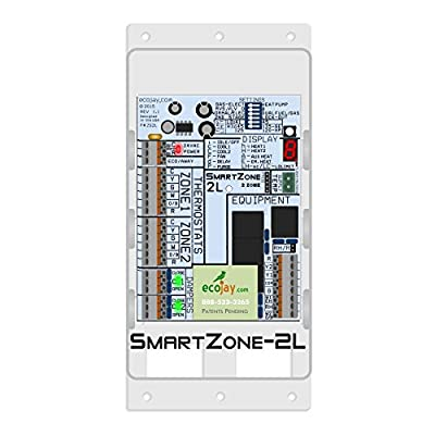 SmartZone-2L: 2 Zone Controller KIT w/Temperature Sensor - Replace Honewell, ewc, zonefirst hvac zone control panels
