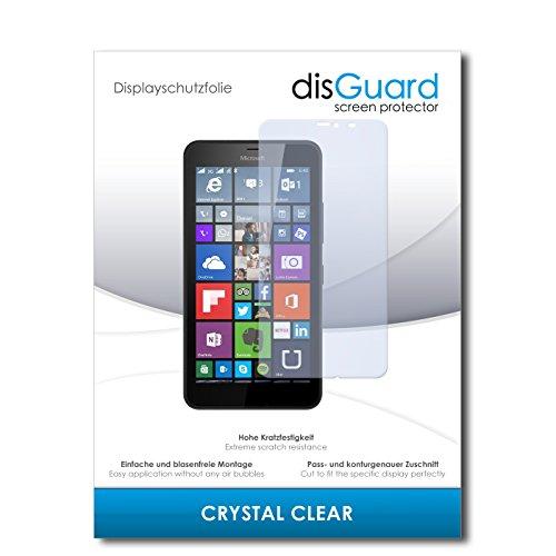 disGuard® Bildschirmschutzfolie [Crystal Clear] kompatibel mit Microsoft Lumia 640 XL Dual Sim [4 Stück] Kristallklar, Transparent, Unsichtbar, Extrem Kratzfest, Anti-Fingerabdruck - Panzerglas Folie, Schutzfolie