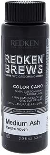 Redken Brews Color Camo Medium Ash for Men Hair Color, 2 Ounce