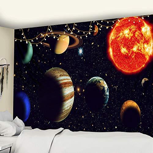 KHKJ Cósmico Cielo Estrellado decoración psicodélico Tapiz Colgante de Pared Indio Mandala Tapiz Hippie Tapiz de Pared A2 95x73cm