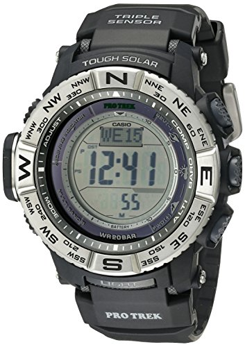 Casio Men's Pro Trek Quartz Watch with Resin Strap, Black, 26 (Model: PRW3500-1CR) Change Time Casio G-shock Watch