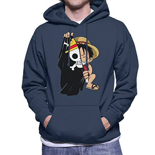 Monkey D Luffy Flag One Piece Men's Hooded Sweatshirt